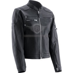 Black Trendy Biker Leather Jacket