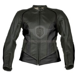 Black Classical Motorcycle Leather Jacket