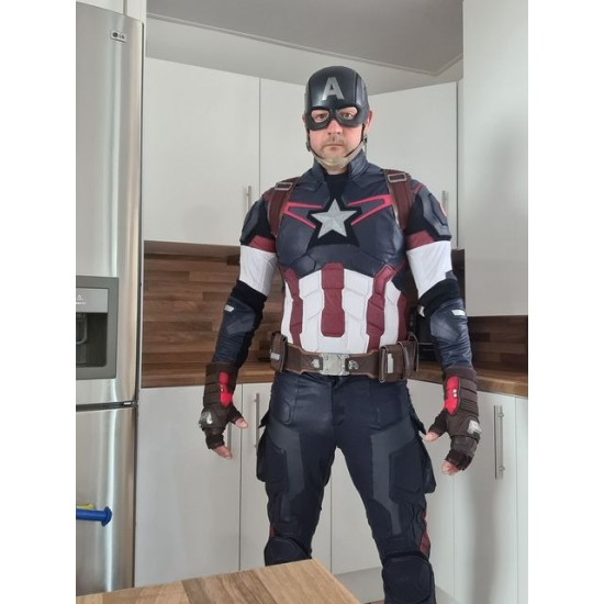 Captain America Age of Ultron Screen Printed Suit - Fabric same as movies