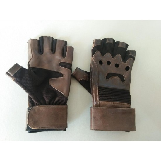 Captain America Leather Gloves from Civil War movie