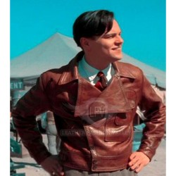 Fresh Look The Aviator Brown Leather Jacket