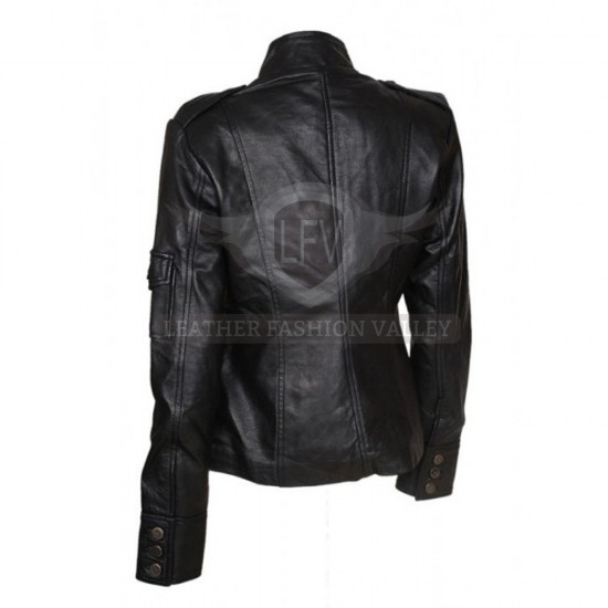 Anne Hatheaway Smart Black Leather Jacket