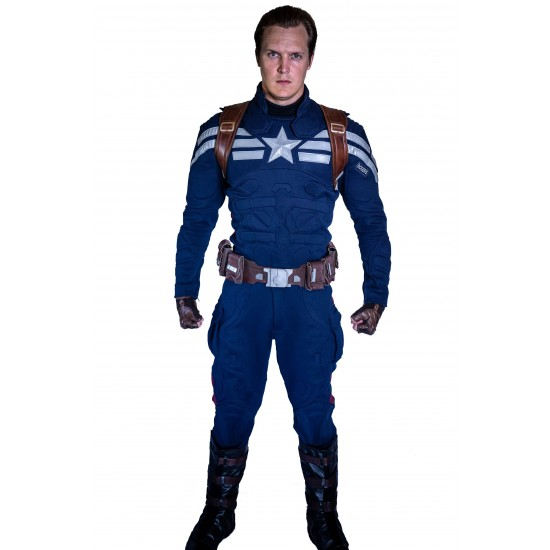 Avengers 4 Endgame Captain America Stealth Strike Suit - Premium Version with rubber and badge upgrades (Screen Accurate)