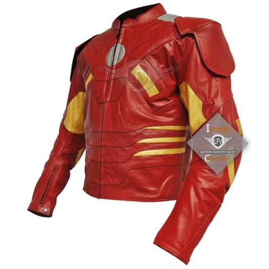 Avengers Iron Man Mark 7 Mens leather jacket