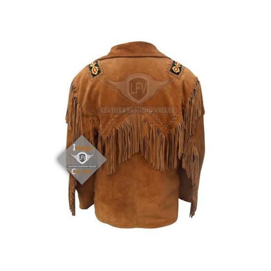 Desert Western Cowboy Fashion Leather Jacket