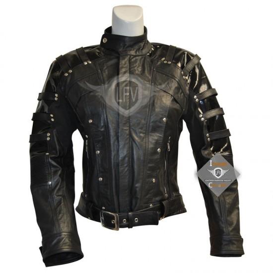 Mens Slim Fit Biker leather Jacket