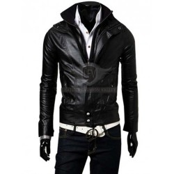 Black Stylish Slim Fit Leather Jacket