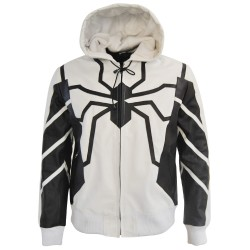 Spiderman leather Jacket hoody