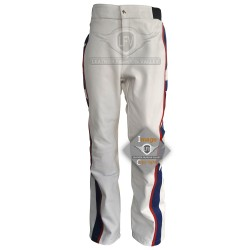 Evel Knievel White Motorcycle Leather Pants Costume