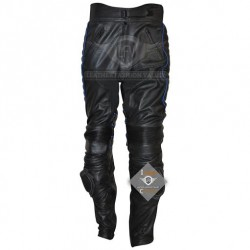 Xmen 3 Wolverine Leather Pant with Blue Piping