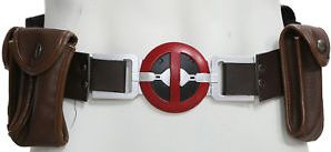 deadpool utility belt with brown pouches